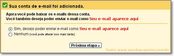 Adicionar e-mail pop3 - Etapa 03