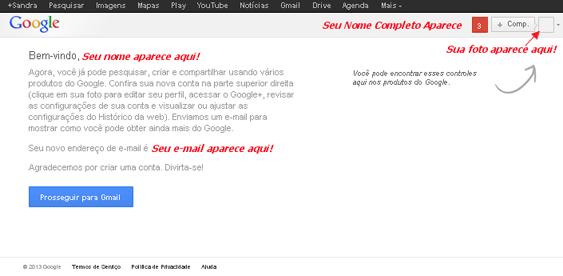 Criar e-mail Gmail - Etapa 06