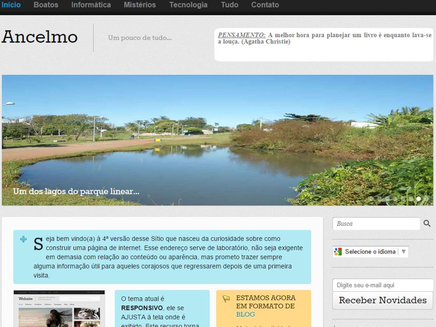 screenshot da página