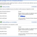 Firewall do Windows - Tela inicial