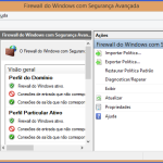 Firewall do Windows - Tela de configurações avançadas