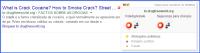 Resultado de busca monitorada pelo WOT mostrando um possível problema