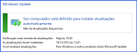 Atualizações automáticas do Windows Update