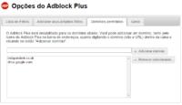 adblock plus dominios permitidos