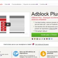 Tela inicial site adblockplus.org/